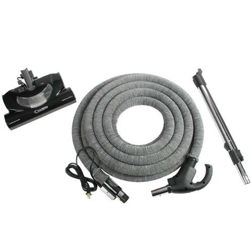 Central Vacuum Accessory Package Including CT20QD Electric Power Nozzle, Wand, & 35 Foot Universal Total Control Hose
