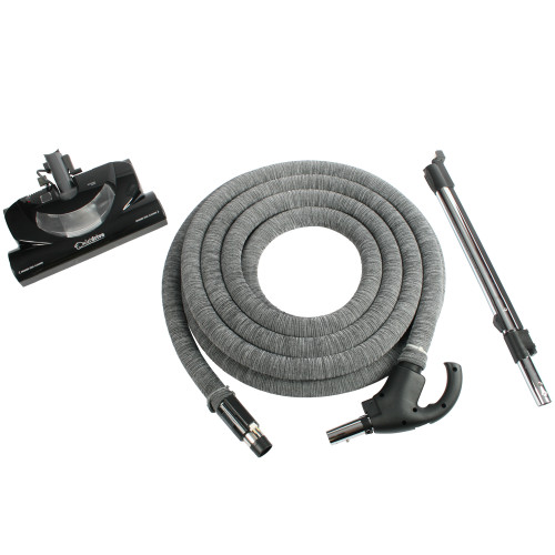 Central Vacuum Accessory Package Including CT20QD Electric Power Nozzle, Integrated Electric Wand, & 35 Foot Direct Connect Total Control Hose