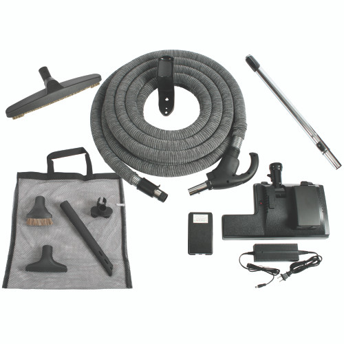 "14"" Lithium Ion Battery Power Nozzle, 35 Foot Universal Low Volt Hose & Accessories"