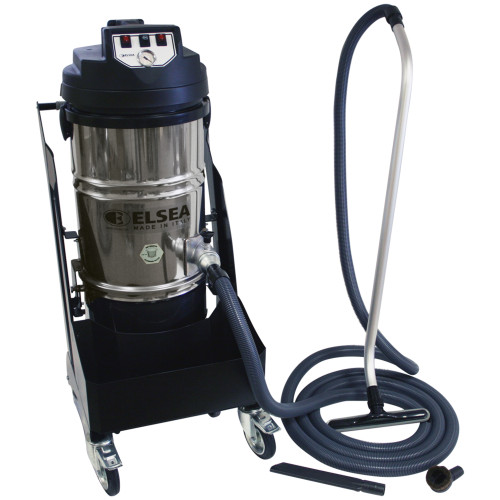 Vega Industrial Grade Mobile & Fixed Location Commercial Two Motor Vacuum with Washable Poly Cartridge Filter & Commercial Accessories