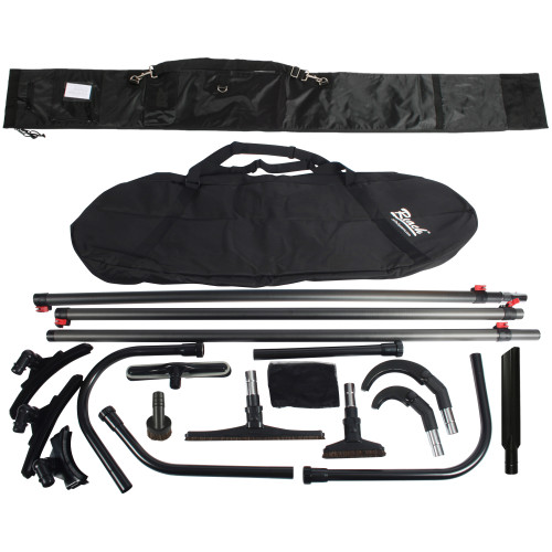 35 Ft. High Reach Vacuum Attachment Kit with 3 Carbon Fiber Poles & Carry Bag, Black