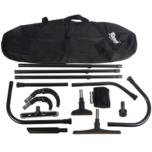 21 Ft. High Reach Vacuum Attachment Kit with Carry Bag, Black