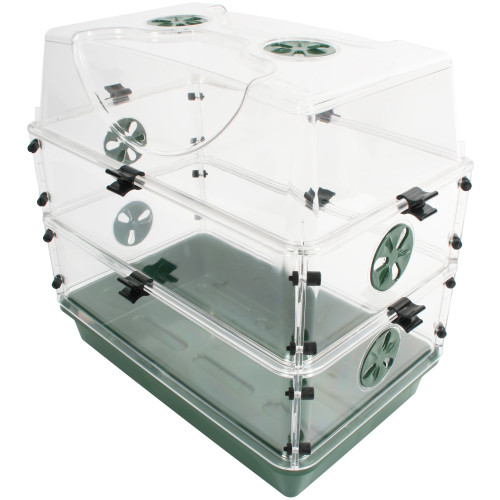 Seed & Herb Domed Propagator with 2 Vented Side Height Extensions & Security Clip Set