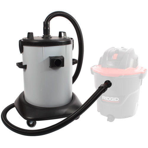 20 Gallon Dry Commercial Interceptor with Fleece Basket Filter & 8 ft. Hose