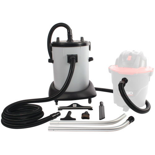 20 Gallon Dry Commercial Interceptor Kit with Fleece Basket Filter, 8 ft. Hose, 15 ft. Hose & Accessory Tool Set