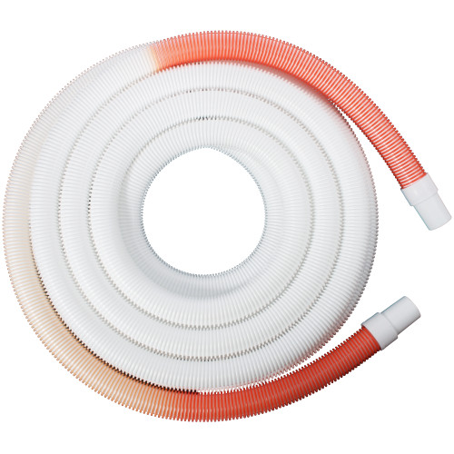 "1.5"" x 50 ft. Arc Relax Premium Swimming Pool Hose, Orange/White"