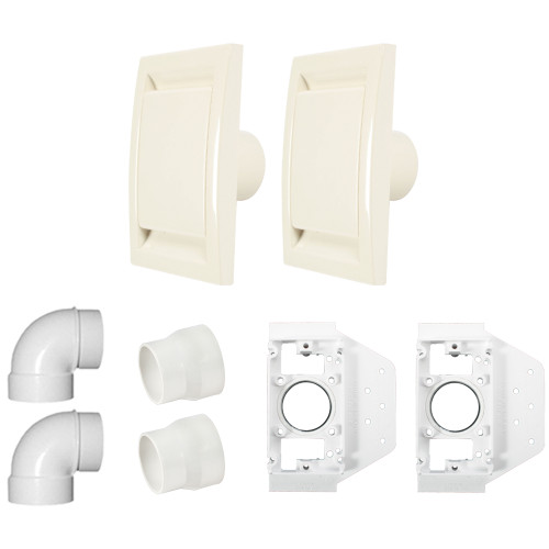 2 Inlet Central Vacuum Installation Kit, Ivory