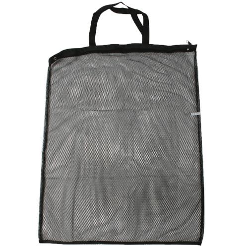Mesh Caddy Bag Zipper 23.5 Inch x 31 Inch Black