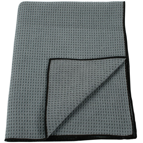 DustUp Gray Microfiber Waffle Towel 24 Inch x 36 Inch Gray