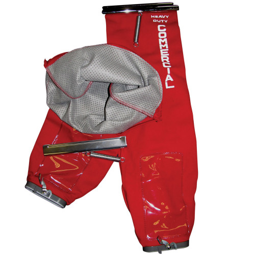 12 Red Top Fill Cloth Shake-Out Bags & Liner for Kent Euroclean, Clarke Alto & Eureka Sanitaire