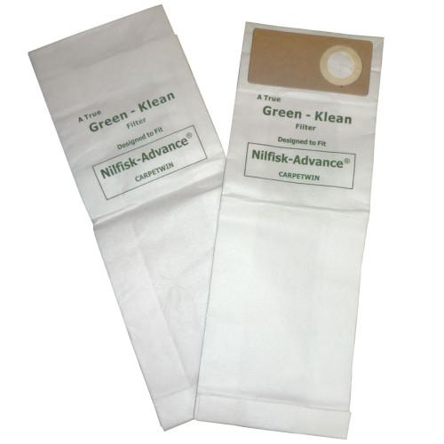 10 Packs of 10 Vacuum Bags for Lindhaus, Nilfisk - Advance & Kent Euroclean