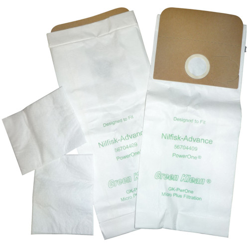 10 Pack of 10 Vacuum Bags & 2 Micro Filters for Lindhaus, Nilfisk - Advance & Kent Euroclean