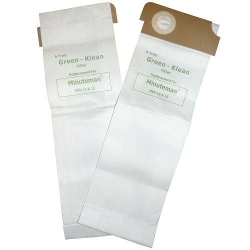 10 Pack of 10 Vacuum Paper Bags for Minuteman MPV Upright Vacuum C37115-14 & 18