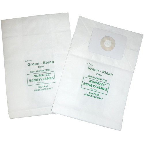 10 Pack of 10 Vacuum Paper Bags for Numatic Henry & James, Nacecare Backpack RSV130
