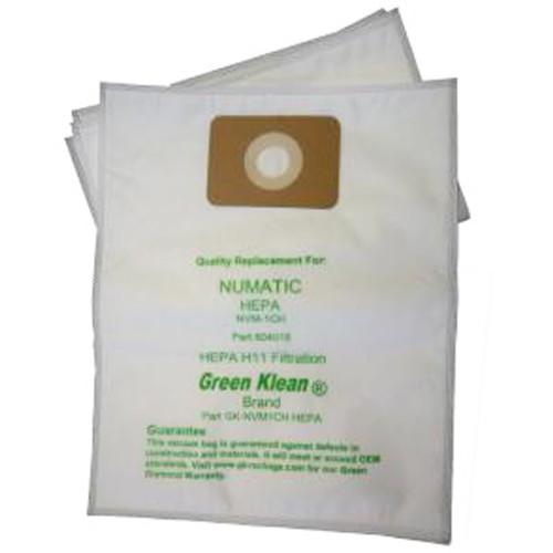 10 Pack of 10 HEPA Bags for Numatic Henery HEPA Flo 130/180/200 Models, HEPA H11