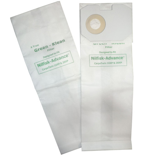 Package of 10 Bags for Nilfisk-Advance CarpeTwin 16XP & 20XP
