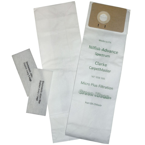 10 Packages of 10 Bags & 2 Micro Filters for Nilfisk-Advance Spectrum