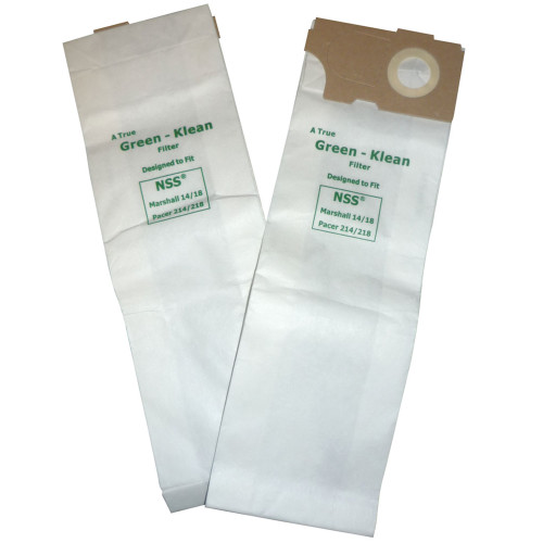 10 Packs of 10 Vacuum Bags for NSS Marshall 14/18 Bandit & Pacer 214/218 and Tornado CW50 & CW100