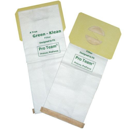 10 Packs of 10 Vacuum Bags for ProTeam ProLux & ProForce