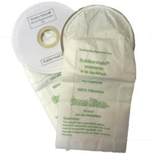 10 Packs of 10 HEPA Vacuum Bags for ProTeam Linevacer 6 Qt & Rubbermaid BP 6 Qt