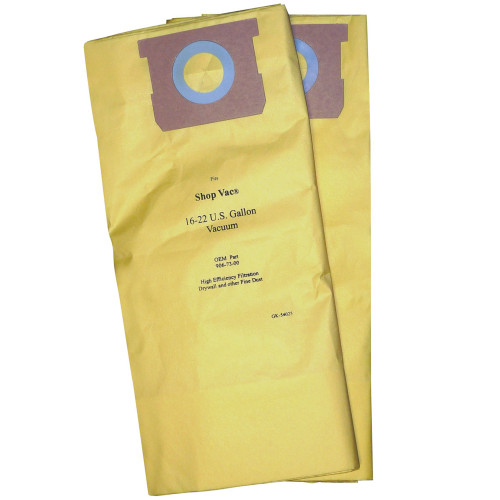 5 Pack of 2 Vacuum Bags for Shop Vac 16-22 Gallon High Efficiency