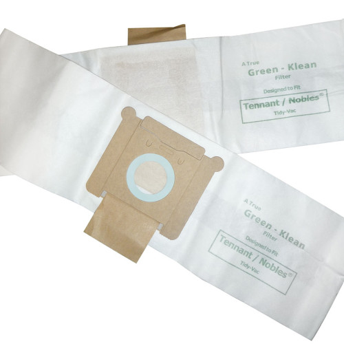 10 Packs of 10 Vacuum Bags for Tennant-Nobles Tidy-Vac Canister & Tennant Model 3400