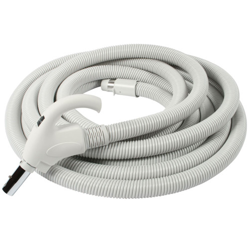 3200 Series Gray Soft Grip Low Volt Hose with Chrome Friction Stub, XS6 Wall End 50 Ft. (15.2m)