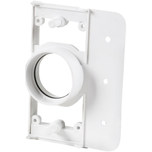 White PVC Vac Mounting Plate with 0.75 Inch Spigot Carton of 75