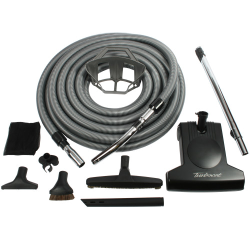 Central Vacuum Accessory Kit with Turbocat Turbine Nozzle & 50 Foot Hose