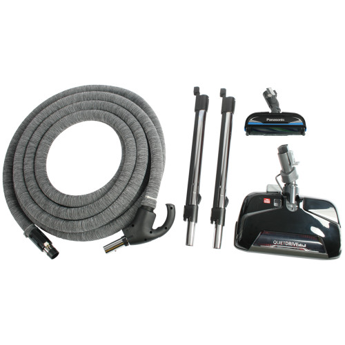 CT25 Electric Carpet Nozzle, CT10 Electric Hard Floor Nozzle, 2 Integrated Electric Wands, & 35 Foot Direct Connect Total Control Hose