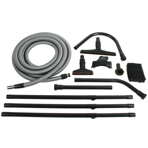 Central Vacuum Compatible Cleaning Kit for High Reach Surfaces up to 25 Feet