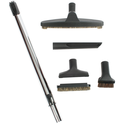 Premium Six Piece Domestic & Commercial Vacuum Tool Set in Black
