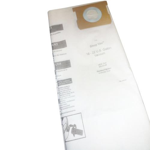 5 Packs of 3 16-22 Gallon Medium Efficiency 540-06 Replacement Vacuum Bag