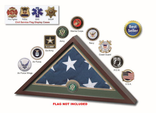 Burial Flag Display Case Made In USA