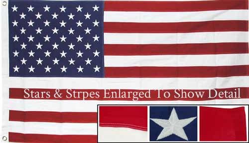 5X9.6 Government Specified Cotton U.S. Burial Casket Flag