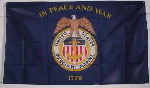 Nylon Merchant Marine Flag