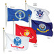 Complete Set 4'x6' 2 Ply Military Service Flags