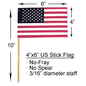 "Wholesale Lot of 12 6x9 6/""x9/"" State of Texas Stick Flag wood Staff"