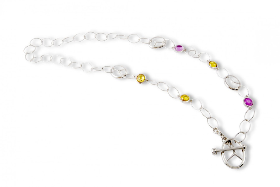 Sticks single strand 5 stone necklace