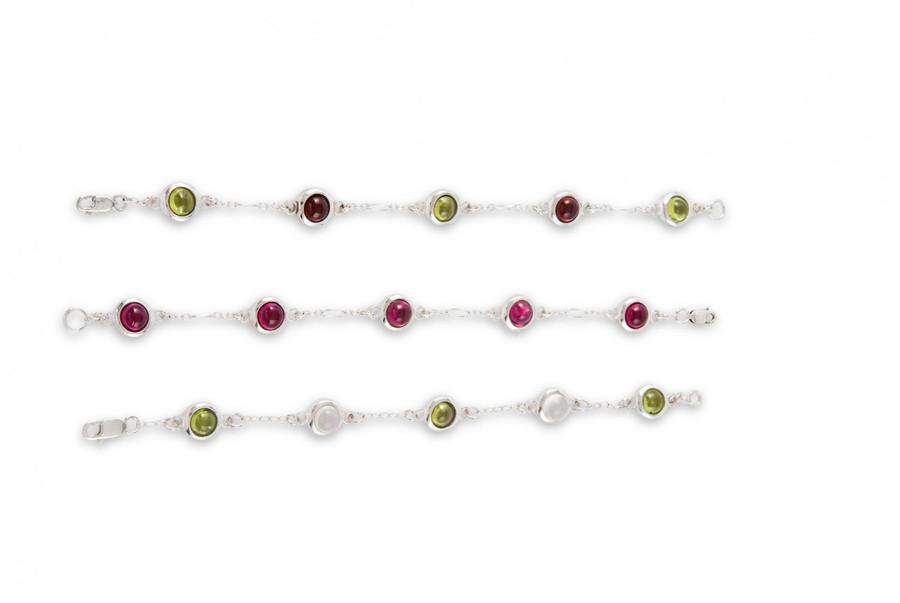 Sticks and Stones bracelet with 5 gemstones