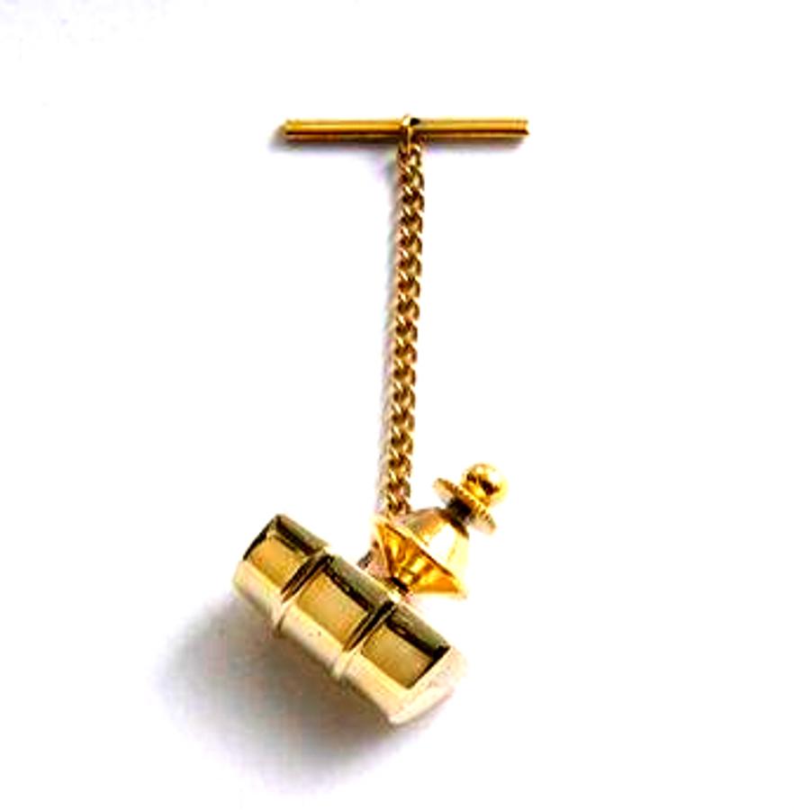 Gold Genesis Bass Drum Tie Pin