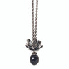Trollbeads Giant Lotus Pendant on Fantasy Necklace, Autumn Trollbeads 2014 Collection, TrollbeadsAkron.com