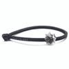 Trollbeads Single Leather Bracelet, Black | With London Gentleman | TrollbeadsAkron.com