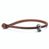 Trollbeads Single Leather Bracelet, Brown | With Cape Town Trinity | TrollbeadsAkron.com