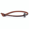 Trollbeads Single Leather Bracelet, Brown | With Hong Kong Voyager | TrollbeadsAkron.com