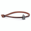 Trollbeads Single Leather Bracelet, Brown | With Amsterdam Town House | TrollbeadsAkron.com