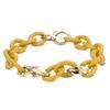 X Jewelry Bracelet Coupled with Bronze X Links