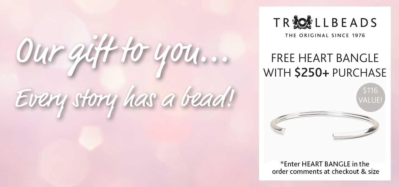 Trollbeads Free Heart Bangle with purchase