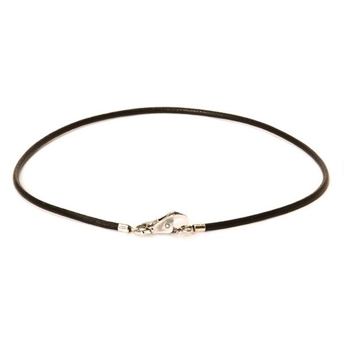 Leather Necklace, Black