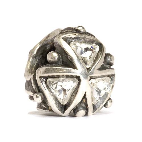 Trollbeads Silver Charm Crystal Triangles